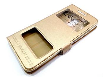 Чехол книжка с окошками momax для Meizu Pro 6 золотой