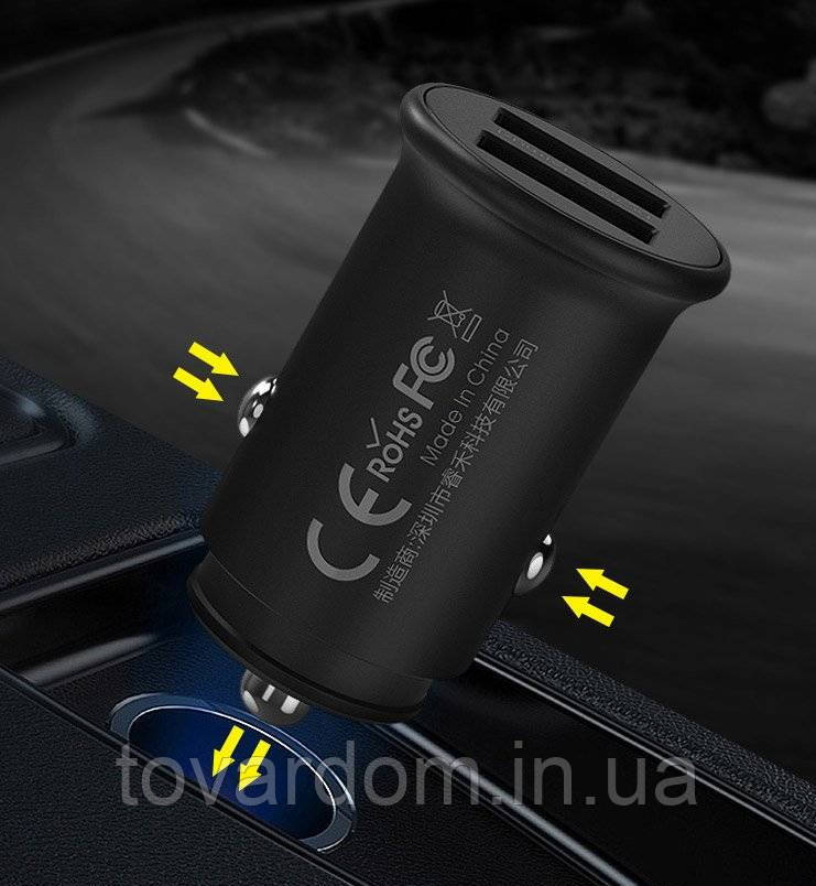 АЗУ Remax (OR) 2USB 2.4A Black