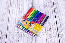 """Фломастеры """"Marco"""" №1690/12, 12 цветов, набор фломастеров для рисования на водной основе."""
