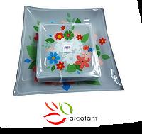 Набор квадратных тарелок  для суши ArcoFam 1536