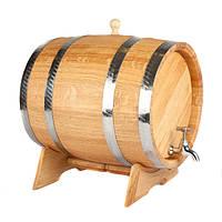 Дубова бочка для вина.Ємність 5 л.Ціна разом з підставкою