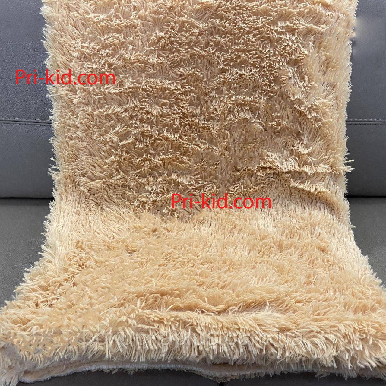 Покрывало плед травка бамбуковое мягкое 220 х 240 Персик