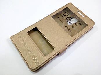 Чехол книжка с окошками Momax для Meizu Pro 6 plus золотой