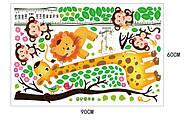 Интерьерная наклейка ростомер Жираф, фото 4