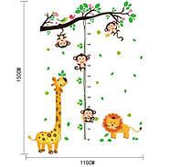 Интерьерная наклейка ростомер Жираф, фото 2