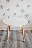 Детский круглый столик белый KR119