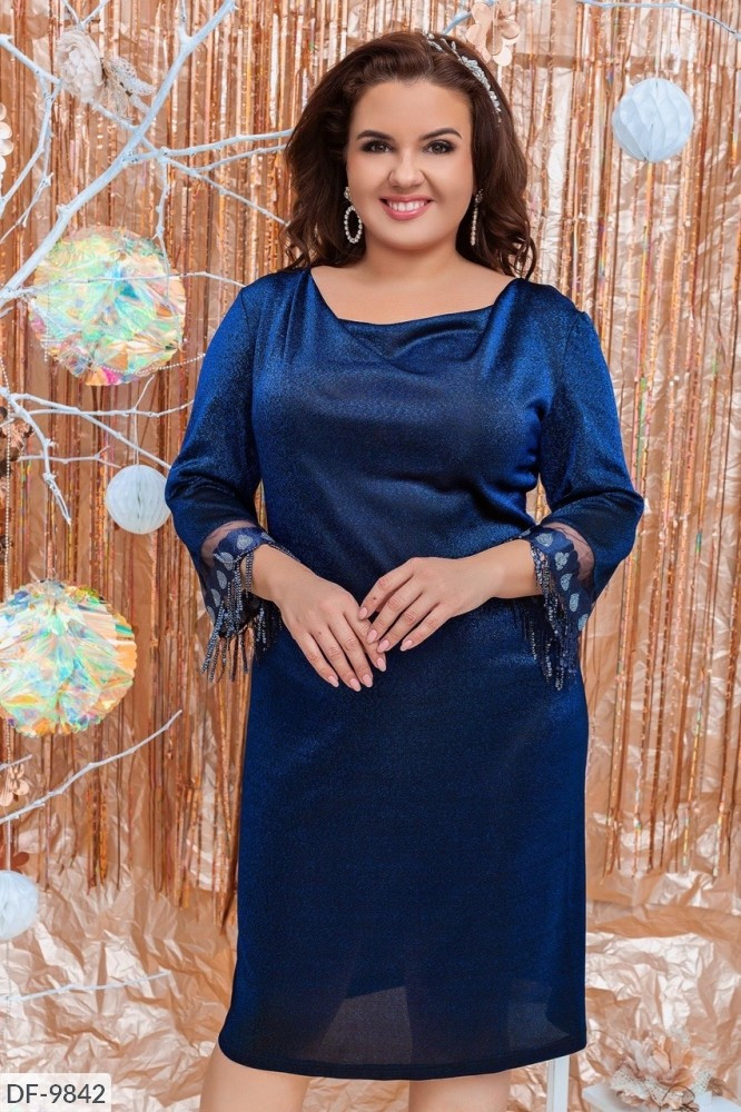 Стильное платье  (размеры 50-56) 0225-51