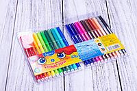 """Фломастеры """"Marco"""" №1690/24, 24 цвета, набор фломастеров для рисования на водной основе."""