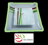 Набор квадратных тарелок  для суши ArcoFam 1539
