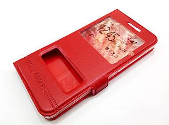 Чехол книжка с окошками momax для Meizu U10 красный