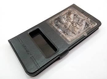 Чехол книжка с окошками momax для Meizu U20 черный