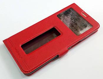 Чехол книжка с окошками momax для Meizu E3 красный