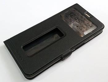 Чехол книжка с окошками momax для Meizu E3 черный