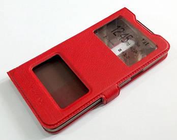 Чехол книжка с окошками momax для Meizu 15 красный