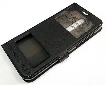Чехол книжка с окошками momax для Meizu M6T черный