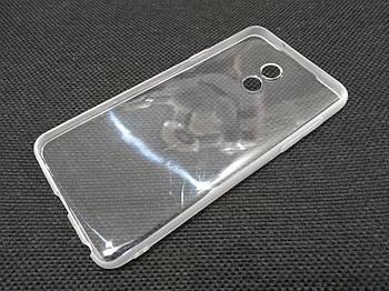 Чехол для Meizu 15 Lite силиконовый прозрачный с матовым ободком