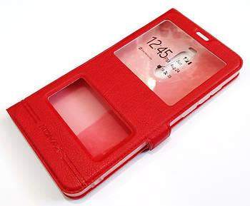 Чехол книжка с окошками momax для Meizu Note 8 красный