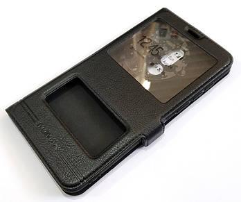 Чехол книжка с окошками momax для Meizu Note 8 черный