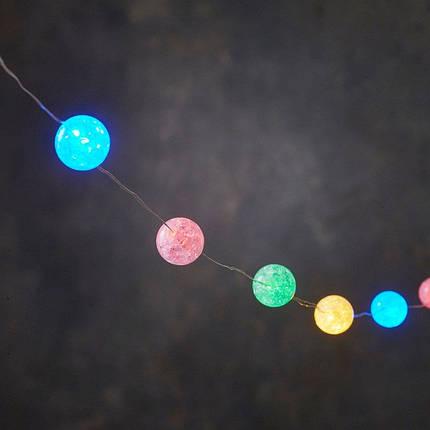 """Гирлянда мерцающая, 6 м, """"Жемчужины"""", """"Luca"""", цвет мультицветной, фото 2"""