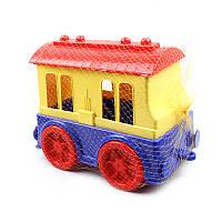 """Машинка игрушечная """"Пассажирский вагон"""""""