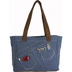 Сумка женская №59586 джинс Голубой