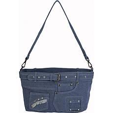Сумка женская №59629 джинс Голубой