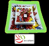 Набор квадратных тарелок  для суши ArcoFam 1511