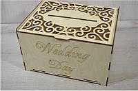 Деревянная коробка для упаковки. Подарочная коробка. Семейный банк