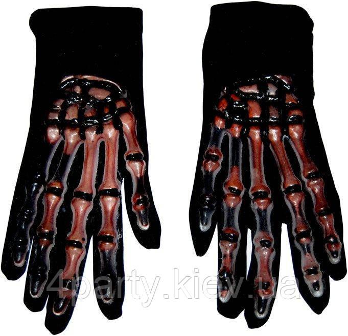 Перчатки Скелет кровь 10-30
