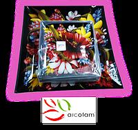 Набор квадратных тарелок  для суши ArcoFam 1512