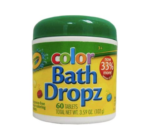 Таблетки для окрашивания воды в ванной Crayola Bath Dropz