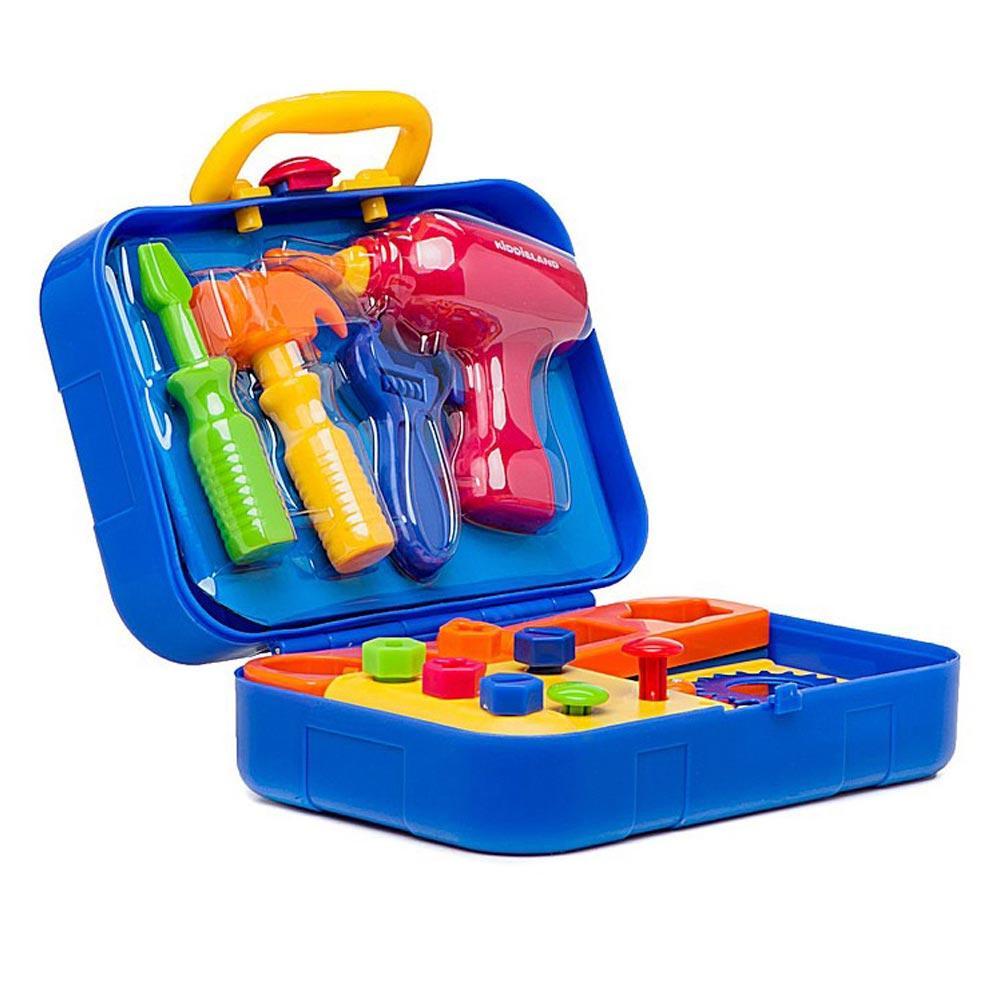 Игровой набор для мальчика с интрументами сортер Kiddieland Маленький столяр 027722