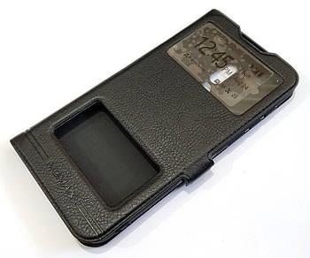 Чехол книжка с окошками momax для Meizu 16 черный