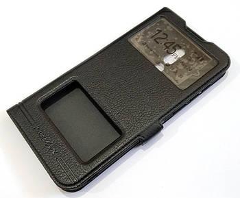 Чехол книжка с окошками momax для Meizu 16X черный