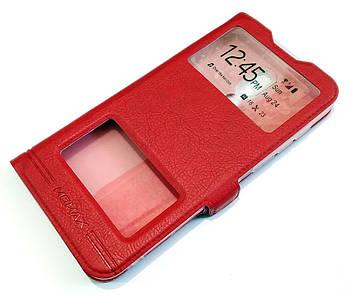 Чехол книжка с окошками momax для Meizu 16X красный