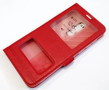 Чехол книжка с окошками momax для Meizu V8 красный