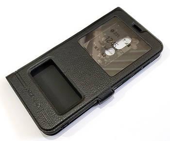 Чехол книжка с окошками momax для Meizu V8 черный