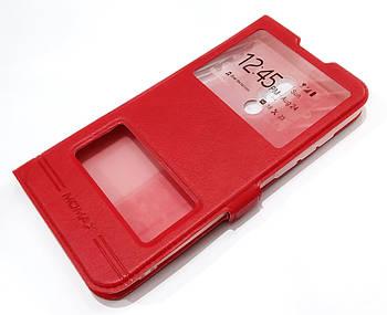 Чехол книжка с окошками momax для Meizu 16 Plus красный