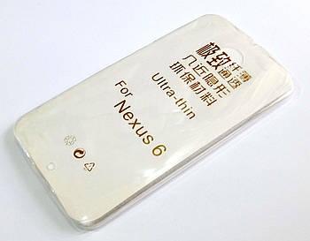 Чехол для Motorola Nexus 6 силиконовый ультратонкий прозрачный