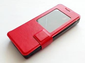 Чехол книжка с окошком momax для Nokia 515 красный