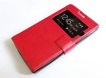 Чехол книжка с окошком для Microsoft Lumia 532 красный