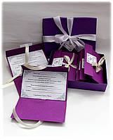 """Свадебное приглашение """"Фиолетово-молочное"""""""
