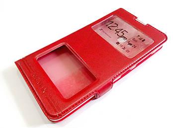 Чехол книжка с окошками momax для Microsoft Lumia 540 Dual SIM красный