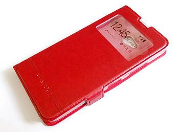 Чехол книжка с окошком momax для Microsoft Lumia 640 красный