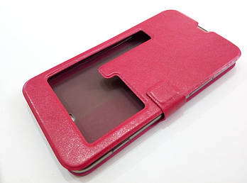 Чехол книжка с окошком momax для Nokia Lumia 1320 розовый