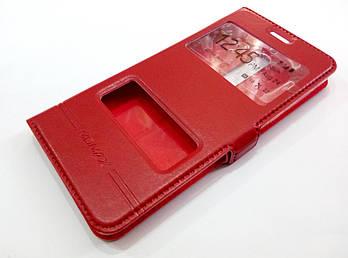 Чехол книжка с окошками momax для Nokia 5 красный