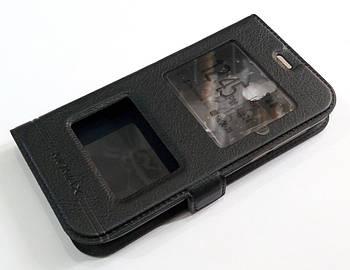 Чехол книжка с окошками momax для Nokia 1 черный