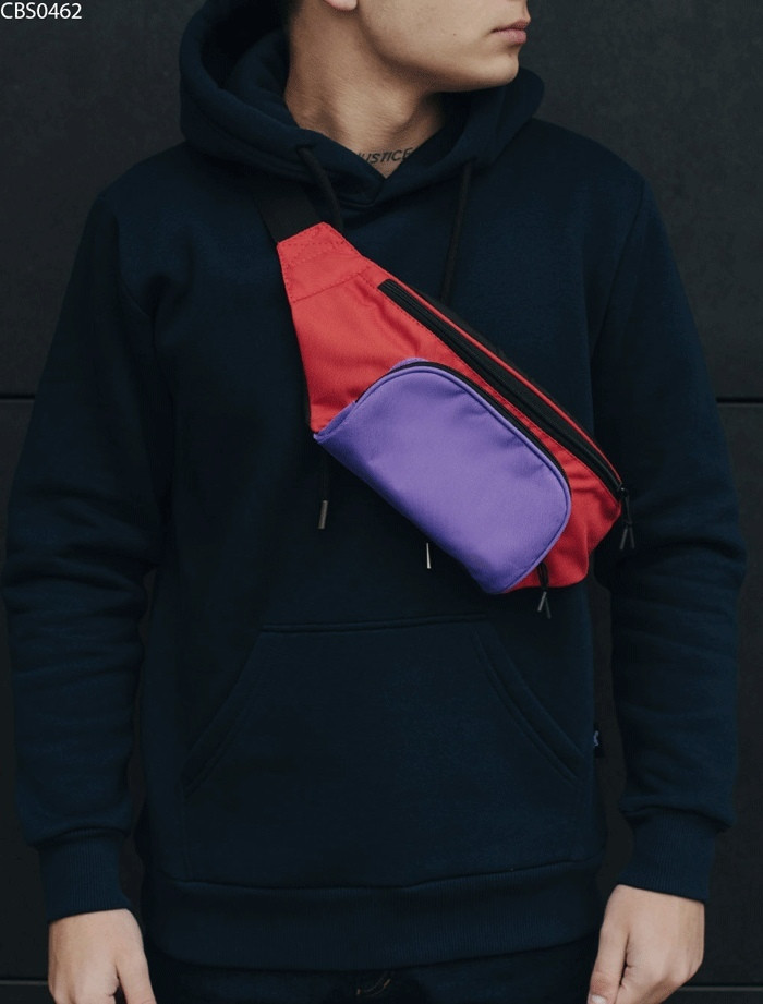 Поясная сумка Staff black violet red