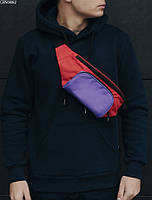 Поясная сумка Staff black violet red, фото 1