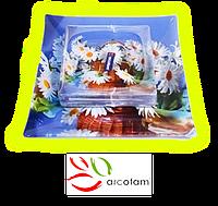 Набор квадратных тарелок  для суши ArcoFam 696